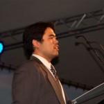 Hikaru Nakamura giving the winner's speech